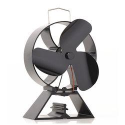 Бесплатная плита термометр + эко-3-лезвие тепла питание вентилятор печки для дерева плита экологический Вентилятор Аксессуары для камина