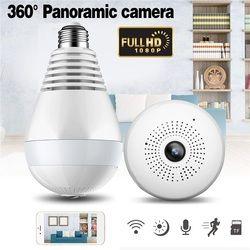 Bulb Light Wireless IP Camera Panoramic Wi-Fi Lamp FishEye WIFI Camera 360 Degree CCTV 3D VR Camera Home WiFi Camera Panoramic