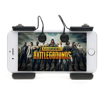 1 pair Smart Phone Mobile Game Fire Button Aim Key Smartphone Mobile Gaming Trigger L1R1 Shooter Controller PUBG V X For PUBG