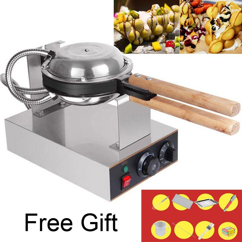 Professional Commercial Electric egg bubble waffle maker machine eggettes puff cake iron maker machine bubble egg cake oven