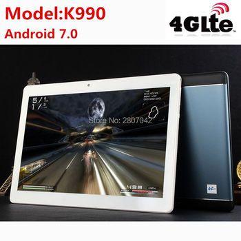 2017 K990 Octa Core 10.1 дюймов Планшеты mtk8752 Android Планшеты 4 ГБ Оперативная память 64 ГБ Встроенная память Dual SIM Bluetooth GPS android 7.0 10 Планшеты PC