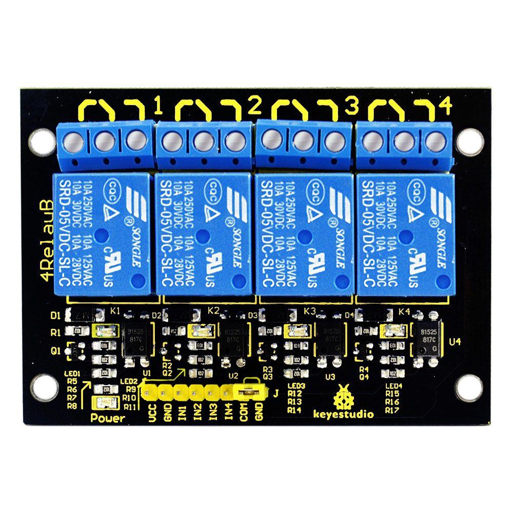 Livraison gratuite!! 2016 nouveau! Module relais Keyestudio 4 canaux 5 V pour Arduino