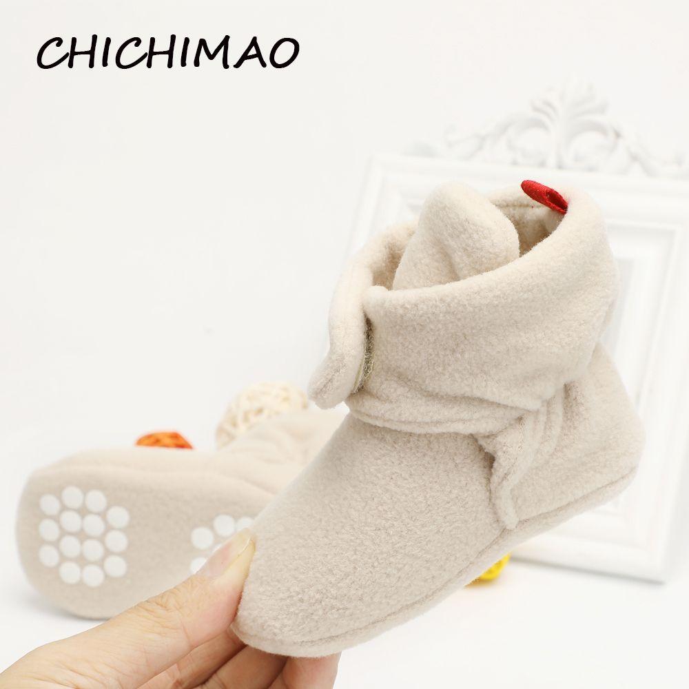 Unisex Baby Newborn Cozie Faux Fleece Bootie Winter Warm Infant Toddler Crib Shoes Classic Floor Boys