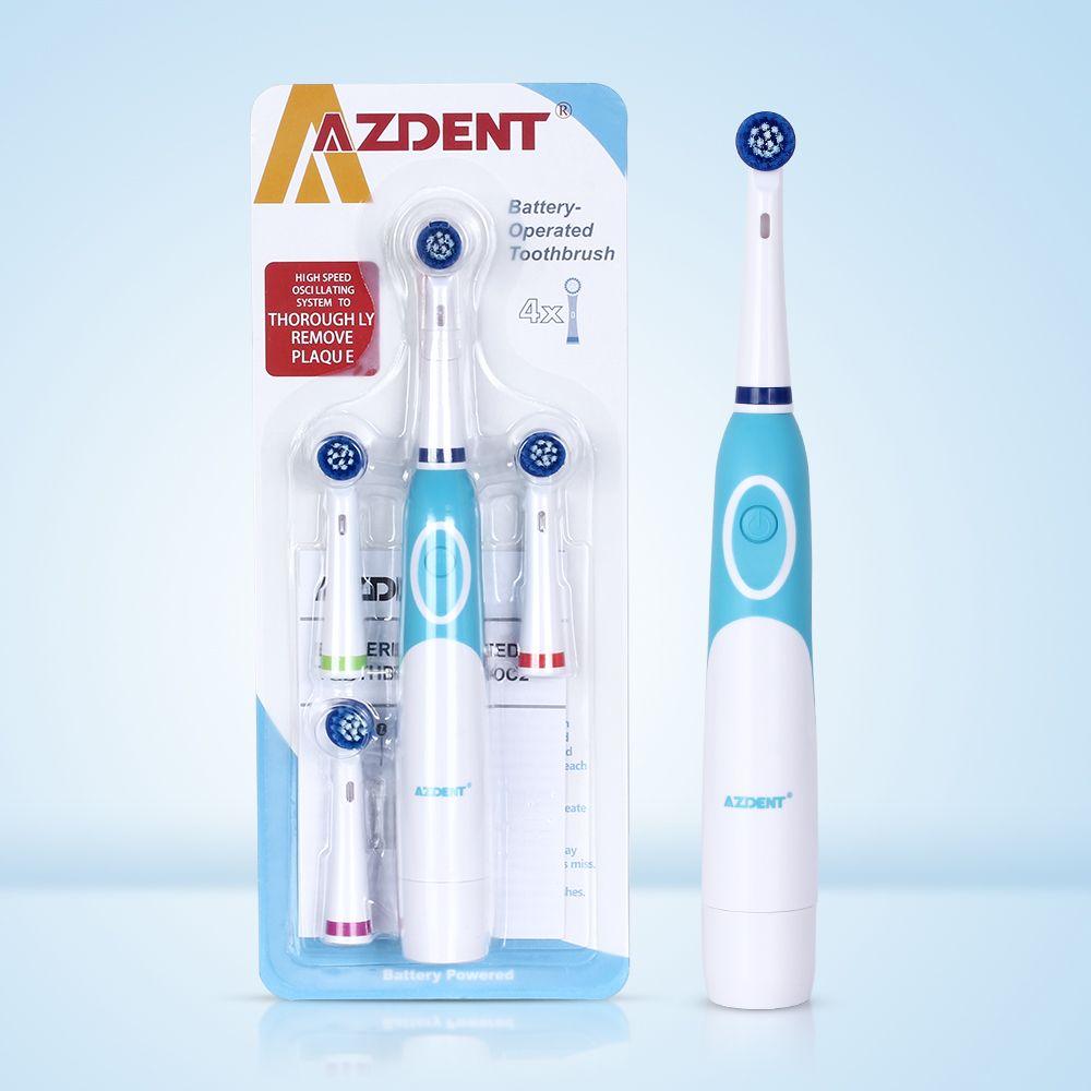 Brosse à dents électrique chaude AZDENT tournant avec 4 ou 8 têtes de remplacement outils de nettoyage en profondeur