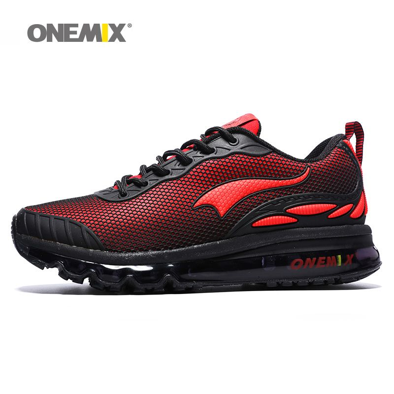 ONEMIX Max Men Running Shoes Women Nice Trends Run Athletic Trainers Red Zapatillas Sports Shoe Cushion Outdoor Walking Sneakers
