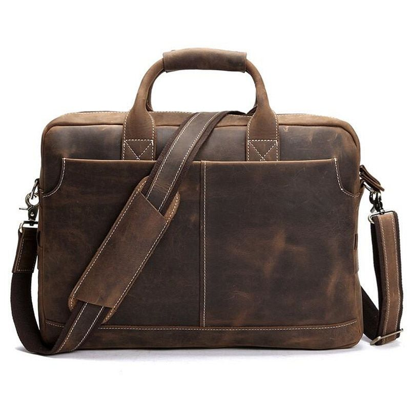 2017 männer Aktentasche Business Schultertasche Leder Messenger Bags Computer Laptop Handtasche Tasche männer Reise Totes Messenger Bags