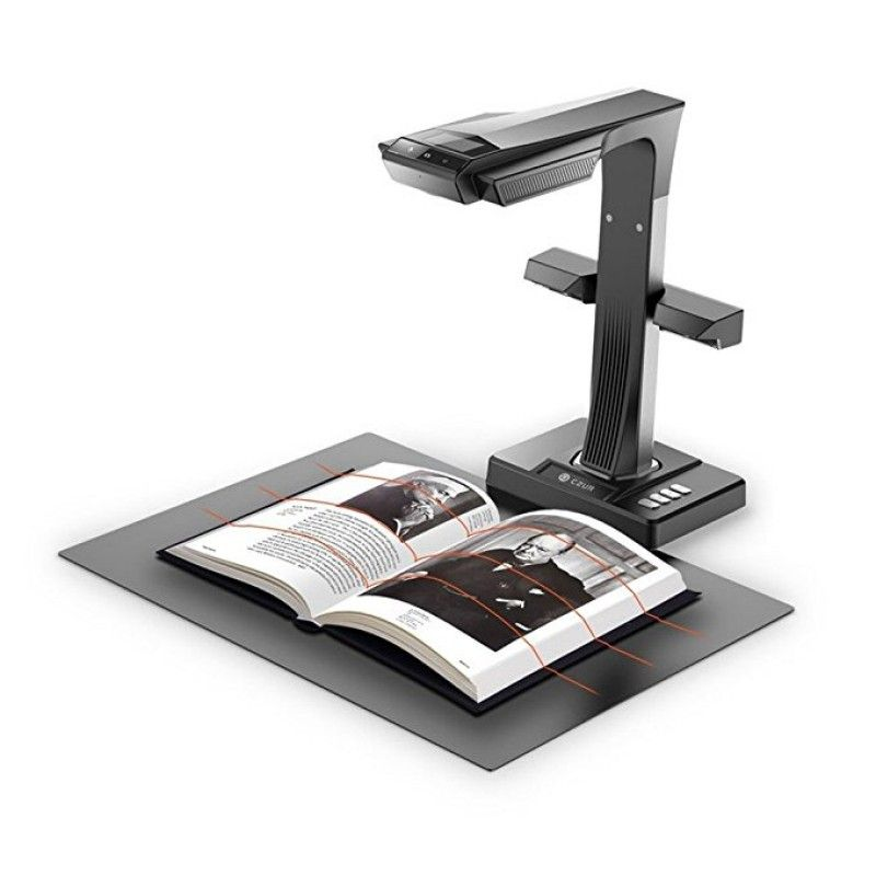 ET16+ 16MP Smart Book & Document Scanner with Innovative Side Light & 187 Languages OCR & Hand & Foot Pedal for Mac and Windows