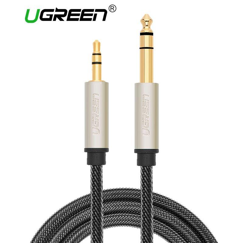 Ugreen 3.5mm à 6.35mm Adaptateur Câble Aux pour Mélangeur Amplificateur CD lecteur Haut-Parleur Plaqué Or 3.5 Jack à 6.5 Jack Mâle Audio câble