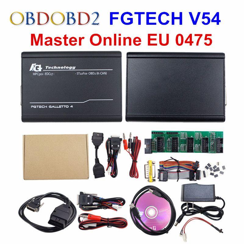 Online Master EU 0475 FGTech V54 Galletto 4 Full Chip Support BDM Full Function Fg Tech V54 Auto ECU Chip Tuning OBD FG-TECH