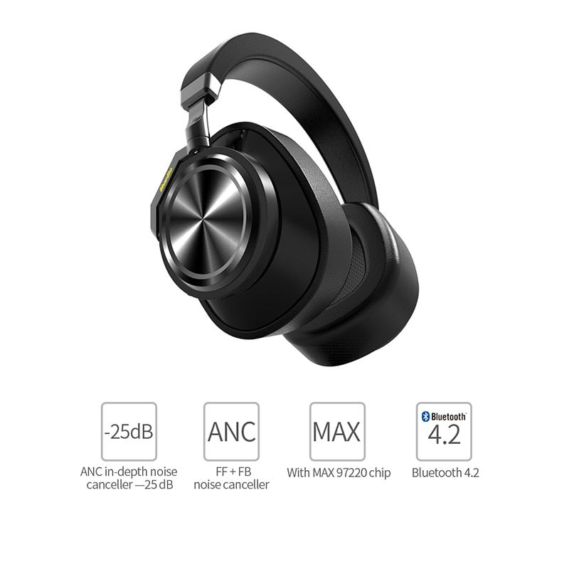 Bluedio T/6 Wireless Bluetooth Headphones Active Noise Cancelling Headset with microphone for phones and music