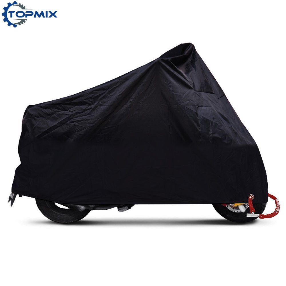 XL/2XL/3XL/4XL 190 т Водонепроницаемый черный мотоцикл крышка Высококачественная вне дождевик для Harley Honda kawasaki Yamaha Suzuki