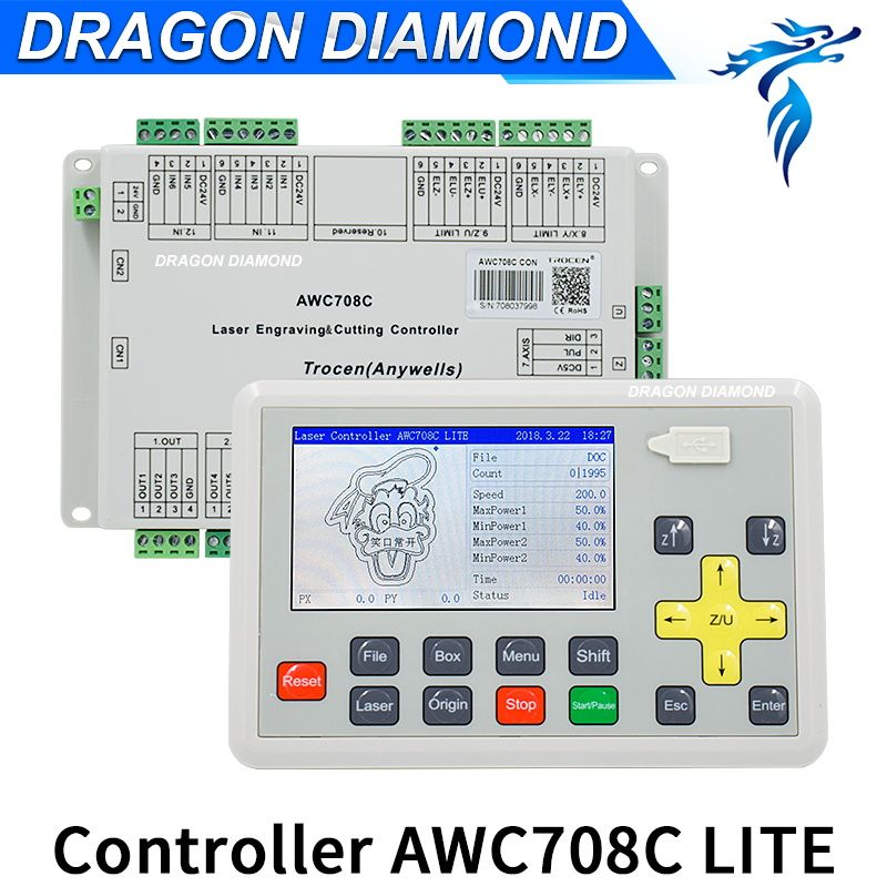 Trocen(Anywells) AWC708C Lite Upgrade DSP laser controller Co2 laser machine control system replace AWC608