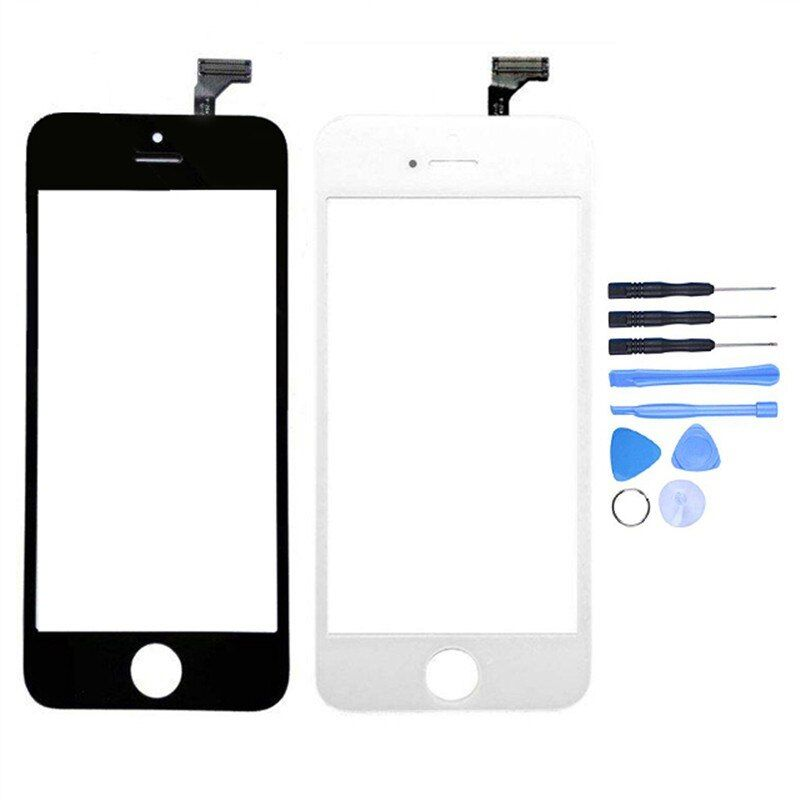 New Touch Screen Digitizer For iPhone 5/5c/5s Front Outer Glass Lens Panel Sensor Replacement + Free Tools With Tracking Number