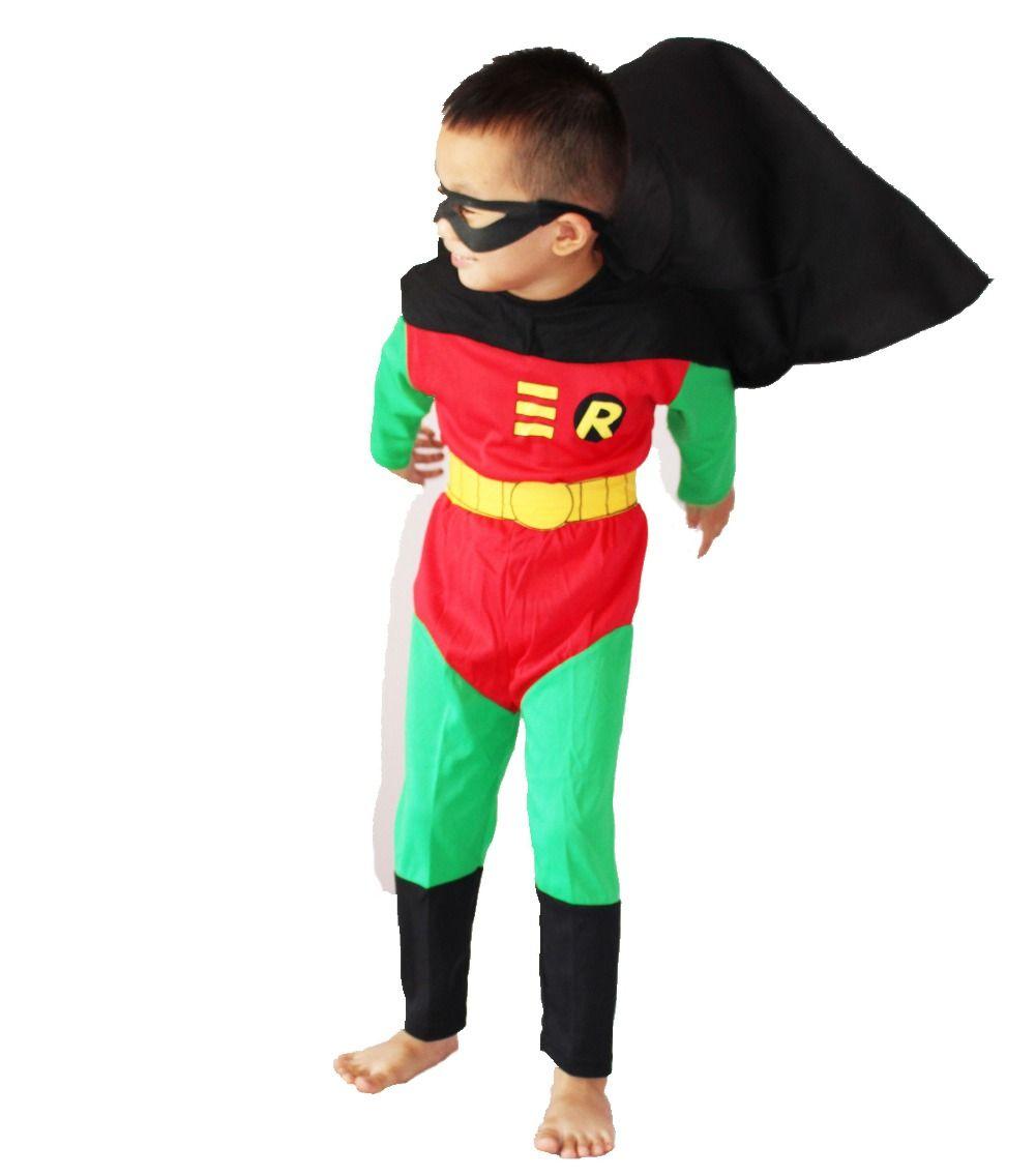 Costumes d'halloween vêtements modèles pour enfants vêtements de jeu de rôle garçon de jeu de rôle Wonder robin taille: 5 #-13 #