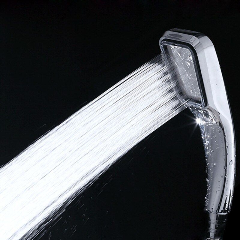 High Pressure Water Saving ABS Bath Shower Head Chrome Plated Water Booster Pressurized Showerhead 300 Holes Shower Nozzle