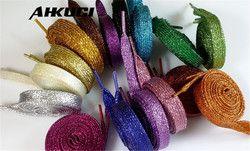 1 Paire lacets Brillant Glitter plat chaussures de Sport Lacet
