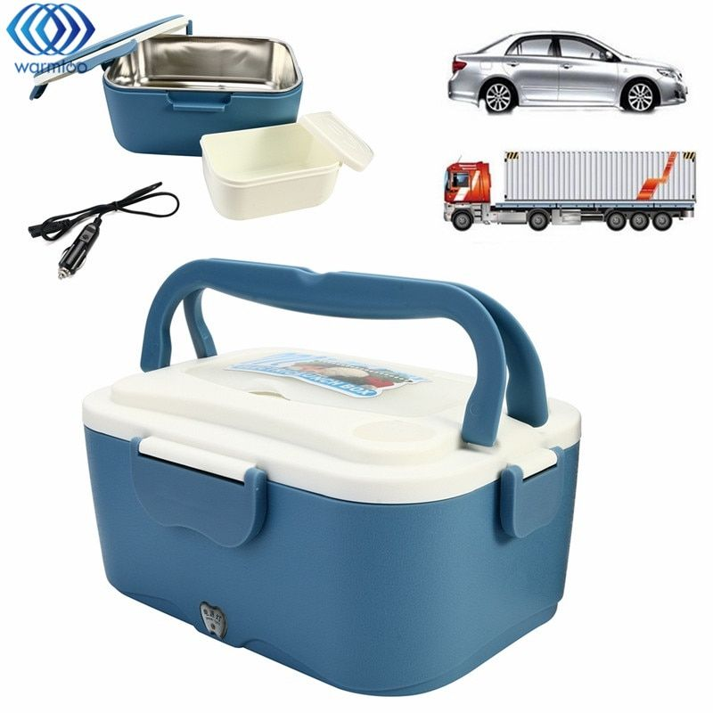 1.5L Electric Lunch Box 12V Car 24V Truck Portable Car Lunchbox Electric Food Warmer Hot Rice Cooker Traveling Meal Heater
