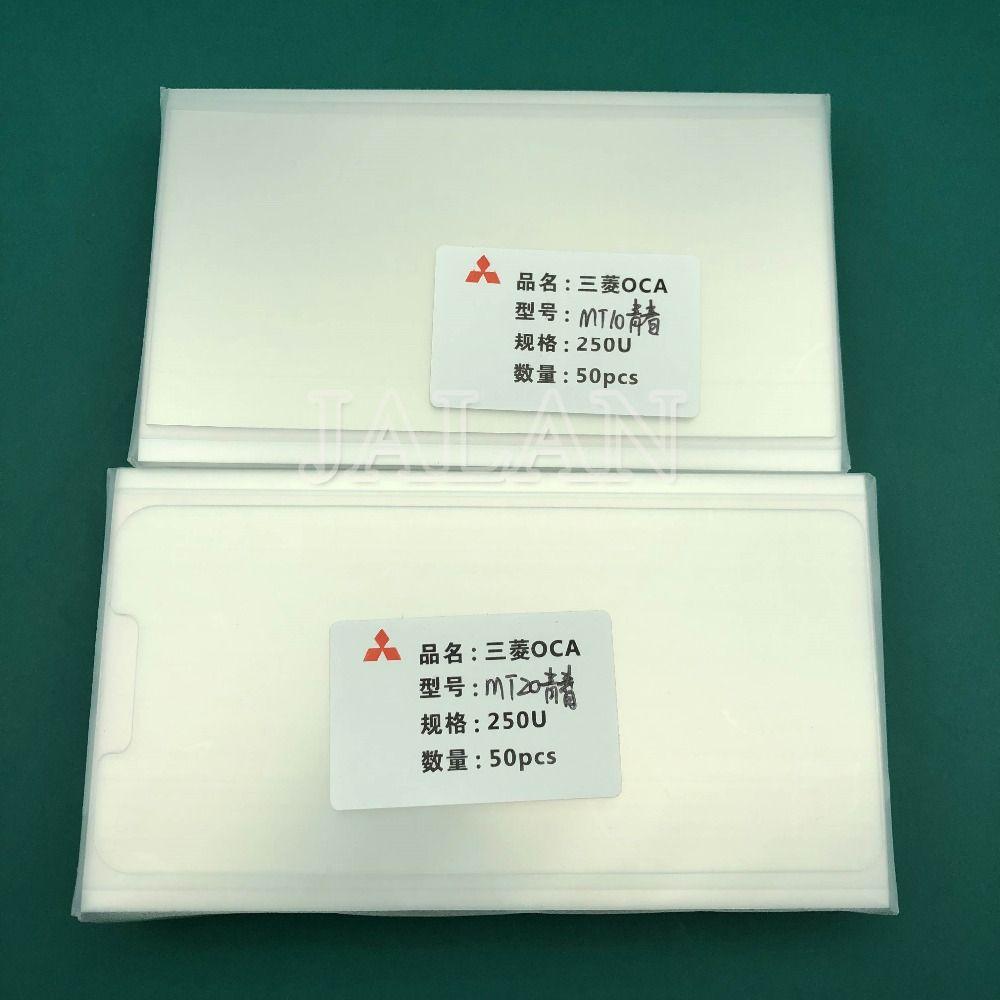 Jalan 50 stücke 250um OCA klebstoff Für Huawei mate 10/20 lite oca kleber touch screen glas objektiv laminieren verwenden Für mitsubishi film
