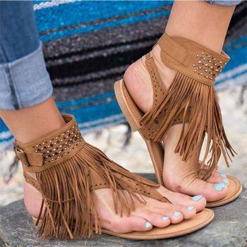 Femmes Sandales Gland De Mode D'été Chaussures Femmes 2018 Nouveau Sandales Plates Bascule Femelle Flops Plus La Taille 34-43 Casual Sandale Femme