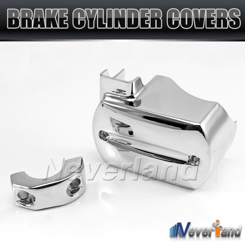 Chrome Brake Master Cylinder Cover For Yamaha V-Star XVS 650 1100 1999-2007 Reservoir Freeshipping D05