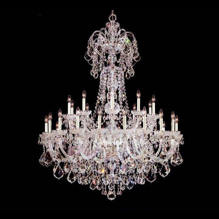 Customized Luxury hotel chandelier crystal lighting lamparas large church living room chandelier led Candelabro lustres cristal