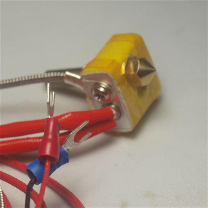 Horizon Elephant  Reprap 3D printer spare parts K type thermocouple Metal DIY Hot End for RepRap 3D Printer 1.75mm Filament 0.4m