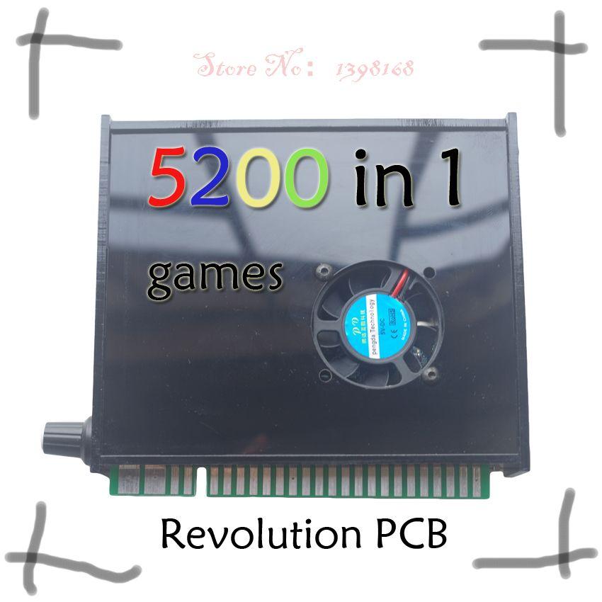 5200 in 1 arcade multi spiel PCB jamma Arcade schrank ox MIT VGA AUSGANG Unterstützung sparen spiel LAUFEN 3D SPIELE video spiel bord