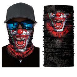 2017 Seamless Skull Skeleton Joker Clown Balaclava Tube Neck Face Mask Scarf Motorcycle Bicycle Hunting Outdoor Bandana Headband