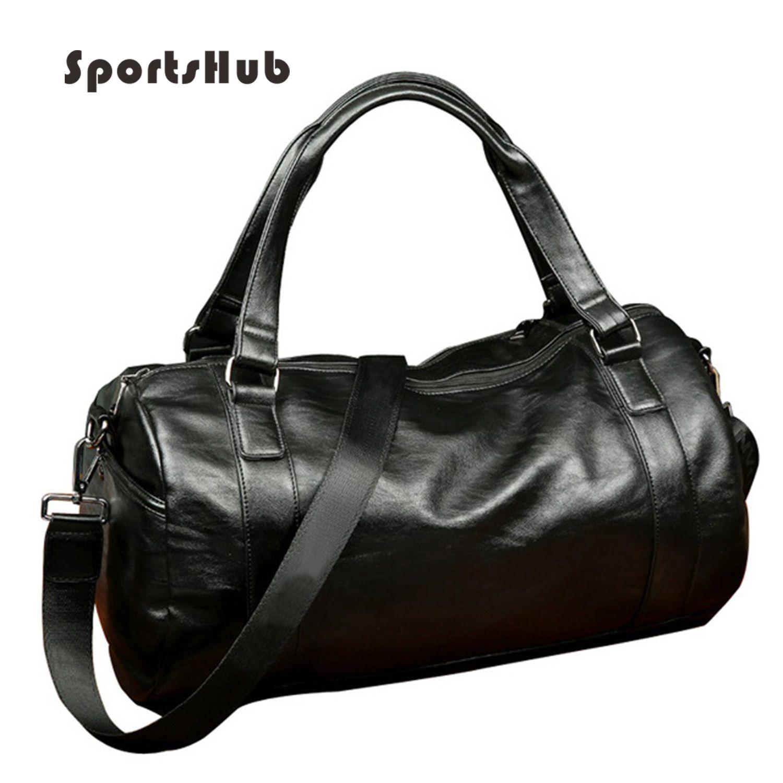 SPORTSHUB Top Pu-leder herren Sporttaschen Sporttaschen Klassische Sport Handtasche Fitness Reisetaschen Workout Umhängetasche SB0004