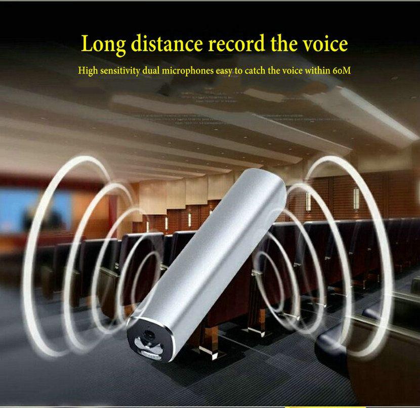 Yescool E180 professionelle Diktiergerät mini versteckte Digital voice Recorder 32 GB denoise HD fern stereo Metall Tragbare MP3