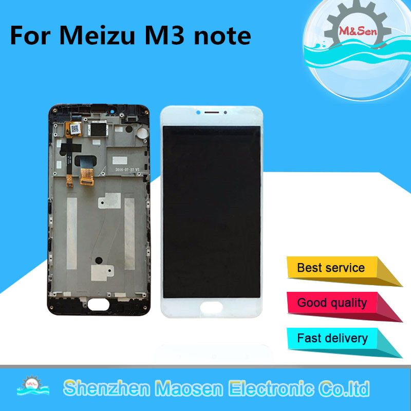 M&Sen For Meizu m3 note M681Q LCD IC 30 or 34pins LCD screen display+touch digitizer with frame (NOT for L681H) free shipping