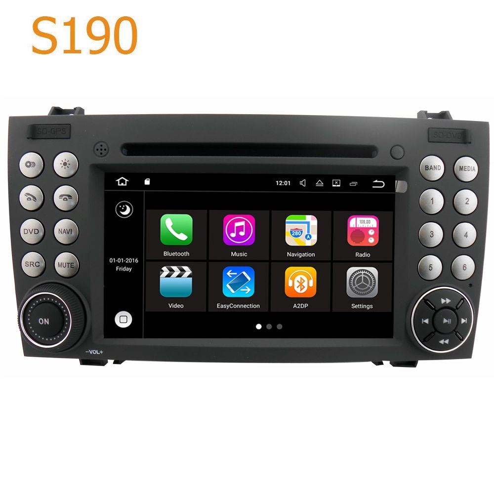 Road Top Winca S190 Android 7.1 System Quad CPU Car GPS DVD Player Radio Navigation for Mercedes Benz SLK R171 200 300 55 AMG