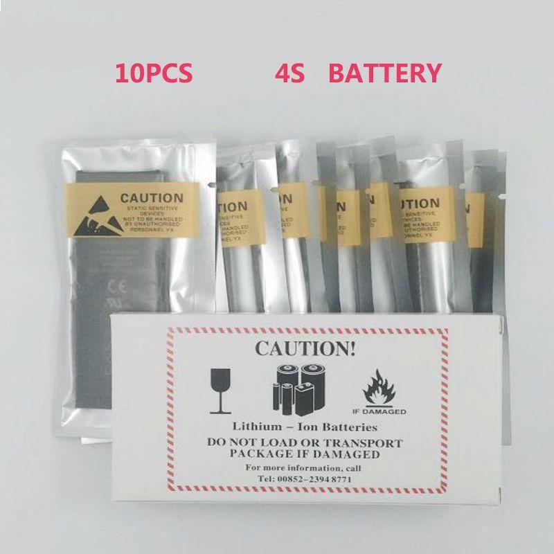 10 stücke null zyklus alle new volle kapazität 1430 mah handy-akku lithium-ionen-batterie-wiedereinbau-batterie für iphone 4 s