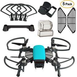 Dji Spark Accessories kit 2 In 1 Propeller Guard with Foldable Landing Gear, Gimbal Camera Guard, Lens Hood, Finger Guard Board