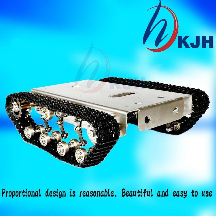 Tank Roboter DIY Chassis Smart track mit zwei kohlebürste motor für Arduino edelstahl tanks, t100