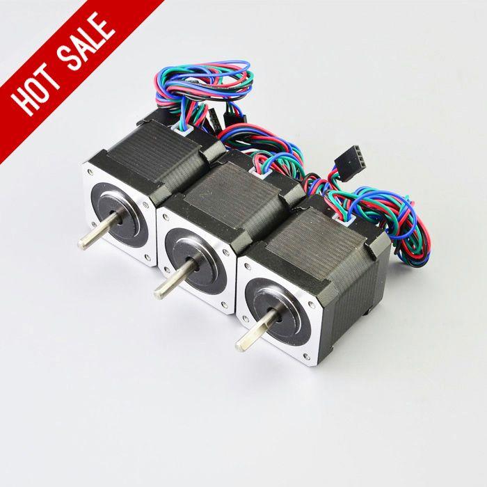 3PCS Nema 17 Stepper Motor 48mm 59Ncm/84oz.in 4-lead Nema17 Step Motor 2A 1m Cable for DIY 3D Printer CNC Robot