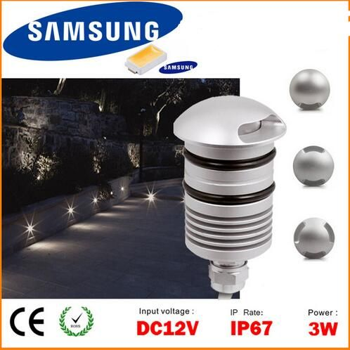 10 Pack 3W Led Floor Decking Lights 12V Led Underground Lighting IP67 Waterproof Buried Lamps with Secure Clip Pathway Lighting