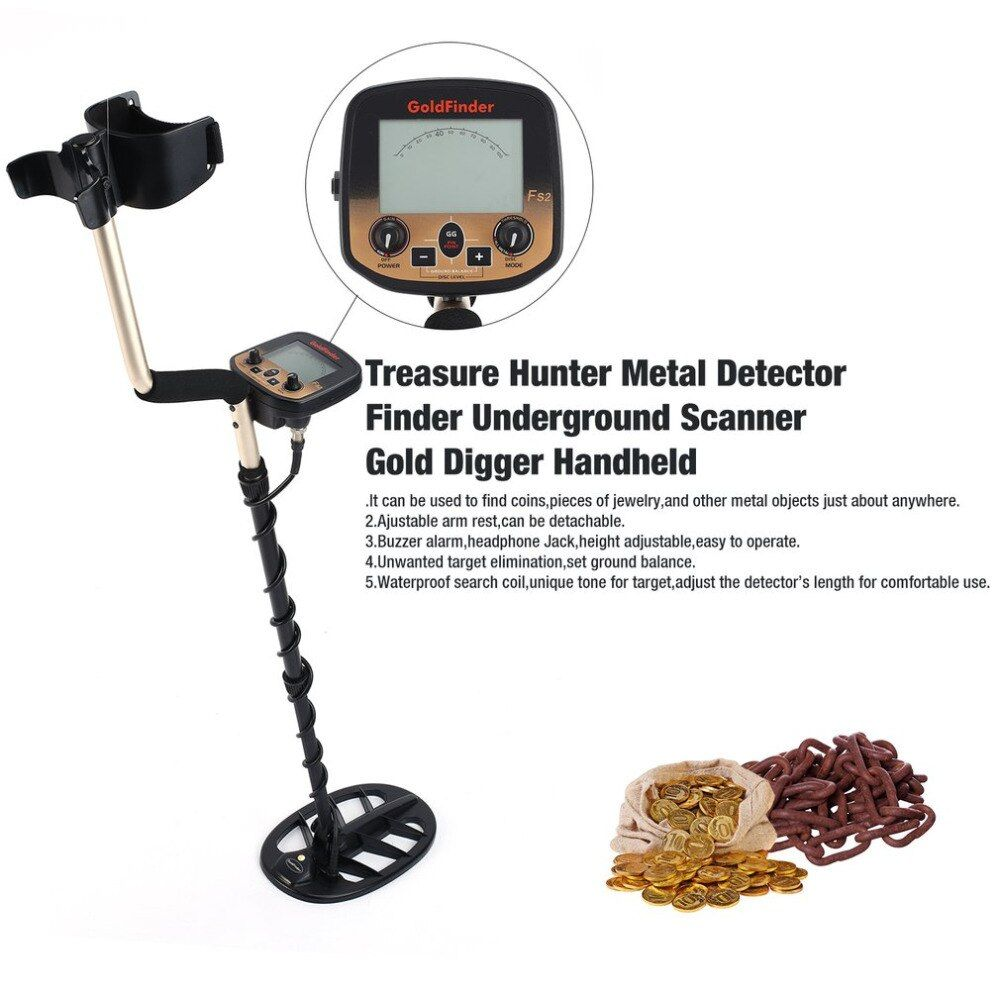 Professional Underground Metal Detector Handheld Treasure Hunter Gold Digger Finder Sensitive Adjustable Scanner Hunting