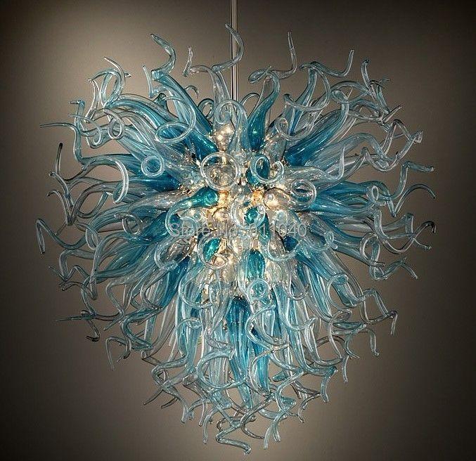 Heißer Verkauf Hand Geblasen Glas Kronleuchter LED Lichtquelle 110-240 V Kronleuchter Beleuchtung-LR434