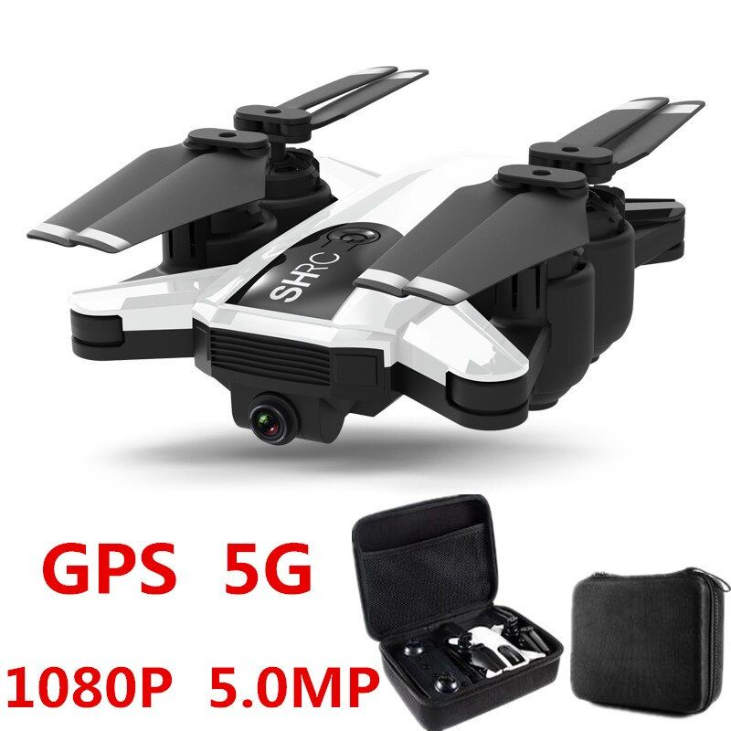 Beruf Drone GPS 1080 P HD Kamera 5G Folgen mich WIFI FPV RC Quadcopter Faltbare Selfie Live Video Höhe halten Auto Rückkehr