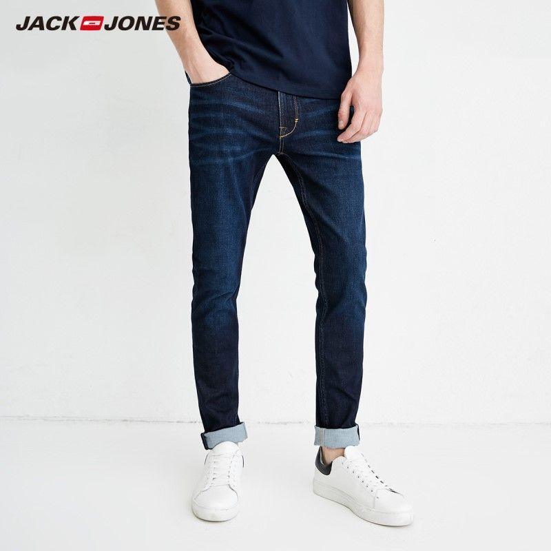 JackJones 2019 Spring Men's Casual Denim Pants Skinny Jeans Classic Jeans Cowboys Young Man J 218132558-218332539