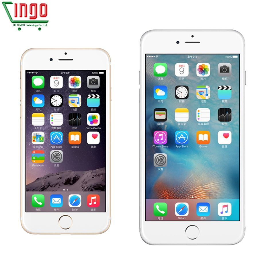 Unlocked Apple iPhone 6 /iPhone 6 Plus 1GB RAM 16/64/128GB ROM IOS Dual Core 8MP/Pixel Used 4G LTE Mobile Phone