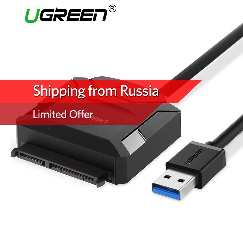 Ugreen SATA TO USB Adapter for 2.5 3.5 HDD SSD Hard Disk Drive USB 3.0 SATA Cable Converter USB SATA Adapter