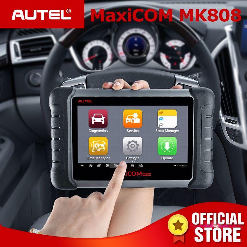 Autel MaxiCOM MK808 OBD2 Scanner Oil Reset SAS DPF Key Programming OBD 2 Car Diagnostic Auto Tool MD802+MaxiCheck Pro PK MX808