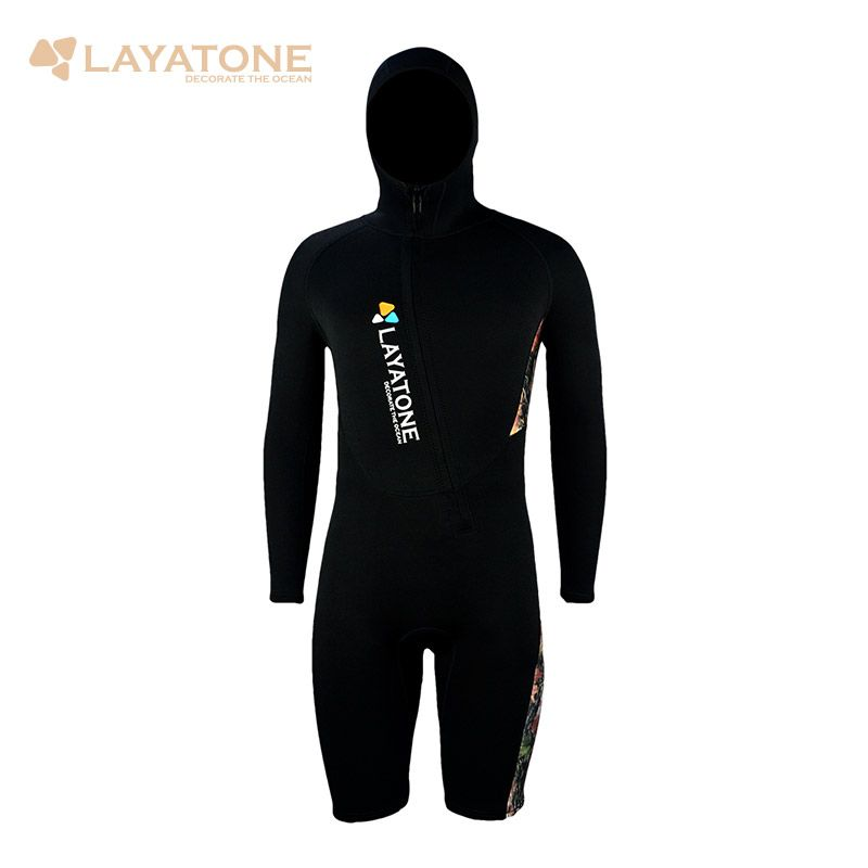 2mm Neoprene Wetsuit With Hood For Men Surf Suit Dive Skin Shorty Wet Suit Male Swimwear Swimsuit For Swimming Scuba