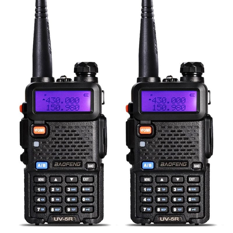 2 pièces BaoFeng UV-5R Talkie Walkie VHF/UHF136-174Mhz & 400-520 Mhz Dual Band Two way radio Baofeng uv 5r talkie-walkie portables uv5r