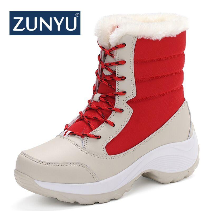 ZUNYU blanc bottes d'hiver femmes bottes de neige de mode nouveau style femmes chaussures de Marque chaussures de haute qualité rapide livraison gratuite girlw boot