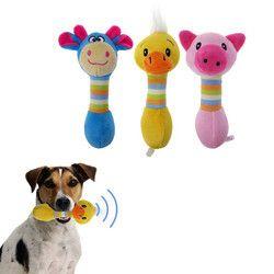 Doy 1 PC Animal de Estimação Brinquedos do animal de Estimação Chew Squeaker Som Interativo Brinquedo para Gatos Cão Jogando Porco Pato Brinquedo de Estimação suprimentos