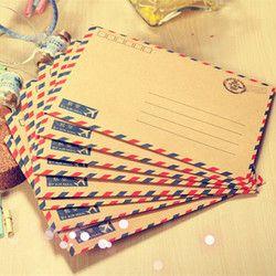 Coloffice 8 PCS/Lot Grande Carte Postale Lettre Papeterie Papier Kraft Enveloppe Vintage Portefeuille Enveloppe Pour Le Bureau D'école D'étudiant cadeau