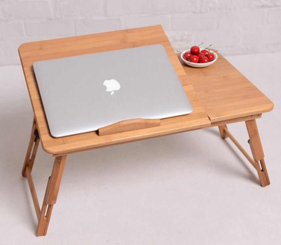 1PC Hot Sale High Quality Folding Laptop table 50*30CM Bamboo computer desk Lap table has a drawer W13D20